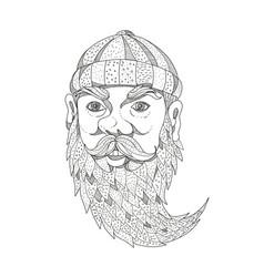 Paul bunyan lumberjack doodle art vector