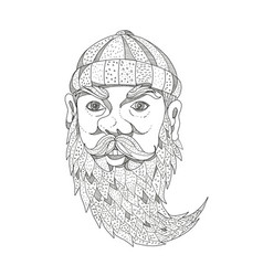 paul bunyan lumberjack doodle art vector image vector image