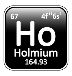 Periodic table element holmium icon vector