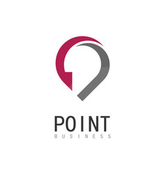 point business logo vector image