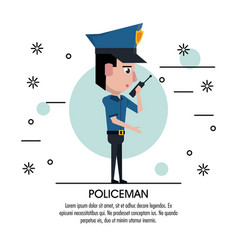 Policeman cartoon design vector