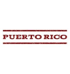 Puerto rico watermark stamp vector