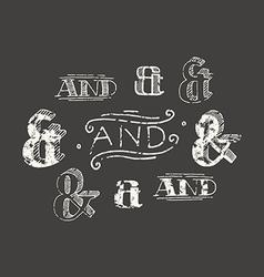 Set of decoration ampersands vector