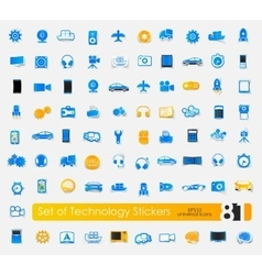 Set of technology stickers vector image