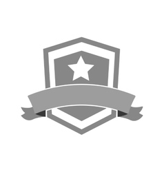 shield star banner icon vector image