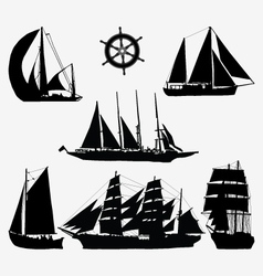 Ships and rudder vector