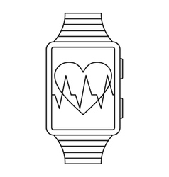 Smartwatch sport icon outline style vector