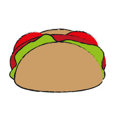 Taco fast food icon image vector