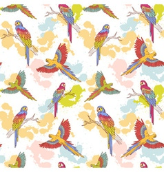 Parrot seamless grunge big vector
