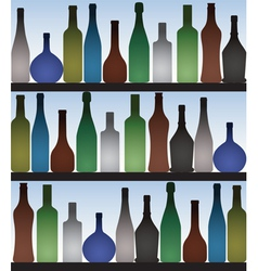 Bottles in bar vector