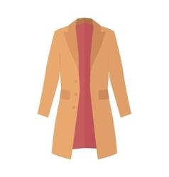 Winter autumn coat or trench coat vector