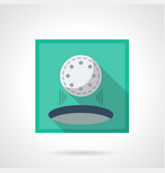 Hole in one flat square icon vector