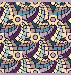 Seamless pattern with geometric floral pattern vector