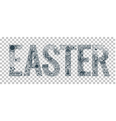 Easter element design vector