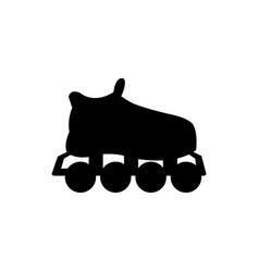 silhouette roller skate sport equipment vector image