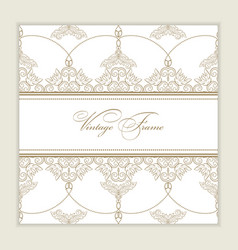 Vintage greeting card for wedding vector