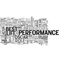 Who should win the oscar text word cloud concept vector