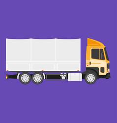 Big truck with cargo vector
