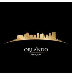 Orlando Florida city skyline silhouette vector image