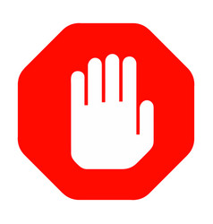 Hand stop sign vector