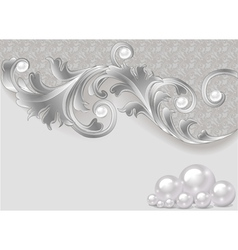 Background with a scattering of pearls vector
