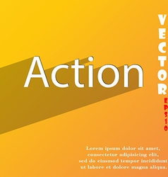 Action icon symbol flat modern web design with vector