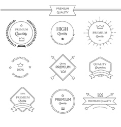 Premium quality line labels set vector