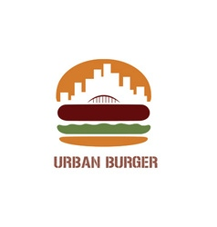 Urban burger concept vector