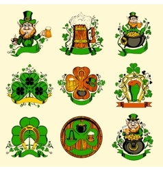 Set of nine pictures for st patricks day vector