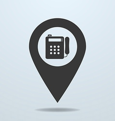 Map pointer with a payphone symbol vector