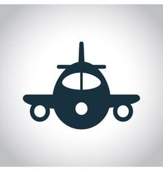 Plane black icon vector image