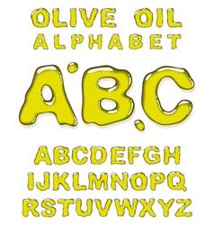 olive oil alphabet letters vector image