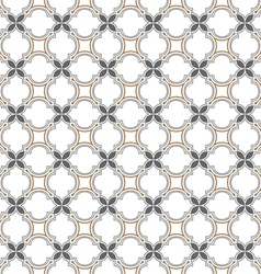 Monochrome seamless pattern islamic style vector