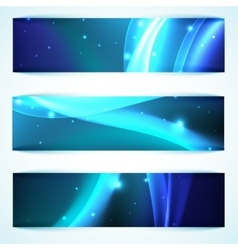 Shiny blue banners vector