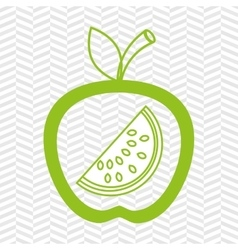 Apple fruit with watermelon isolated icon design vector