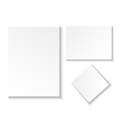 a blank paper sheet empty in different positions vector image vector image
