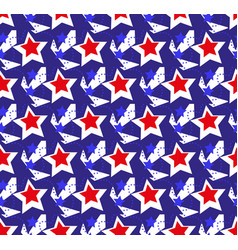 american usa flag seamless patterns independence vector image vector image