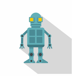 Android robot icon flat style vector