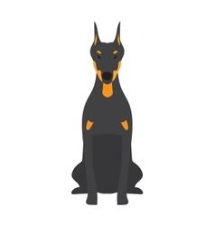 Angry flat dog pet and dog vector