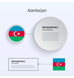 Azerbaijan Country Set of Banners vector image vector image