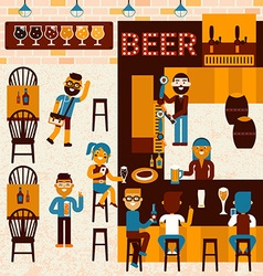 Beer Place vector image vector image