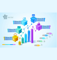 Business charts and graphs infographics vector