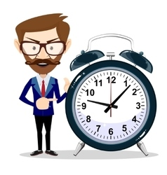 businessman with alarm clocks symbolizing time vector image vector image