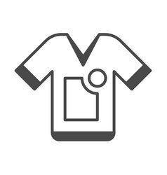 clothing advertisement isolated icon vector image vector image