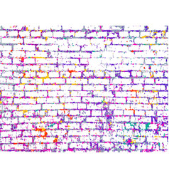 Colorful grunge art wall vector
