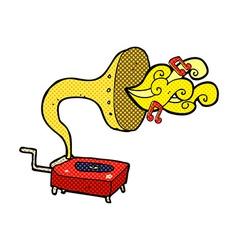 Comic cartoon gramophone vector