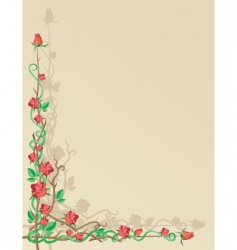 decorative rose border vector image vector image