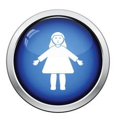 Doll toy icon vector image vector image