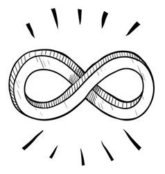 Doodle infinity vector