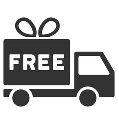 Free shipment flat icon vector